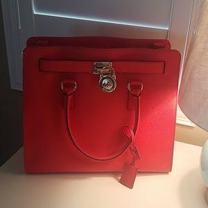 Michael Kors  Cherry Red large Hamilton purse....